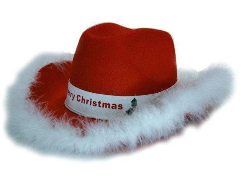 Hoed Vilt Cowb. kerst