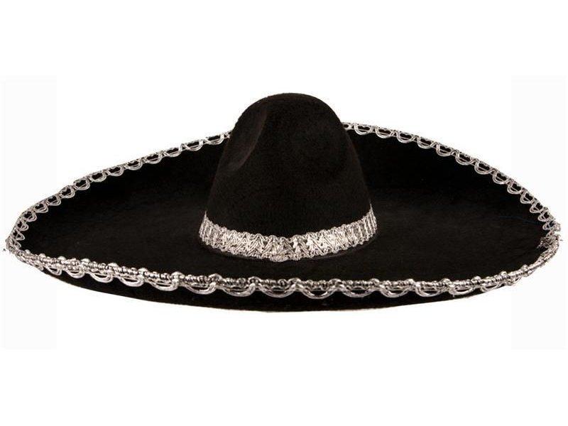 Hat felt Sombrero Black