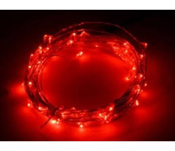 Breaklight HighBrite 40 Led Ketting 2 m op batterijen - Rood