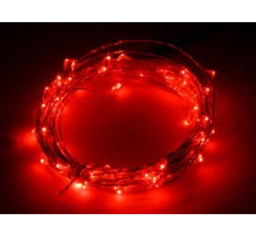 HighBrite 40 Led Cord 2 m on battery - Red
