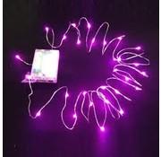 Breaklight HighBrite 40 Led Guirlande 2 m on battery - Rose