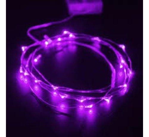 Breaklight HighBrite 40 Led Cord 2 m on battery - Purple