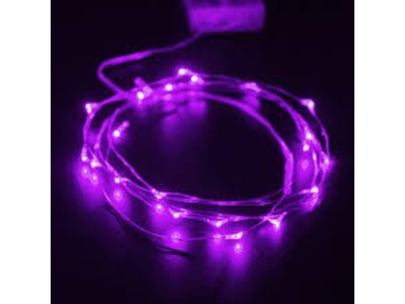 Breaklight HighBrite 40 Led Guirlande 2 m on battery - Mauve