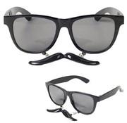 Glasses with Mustache Black