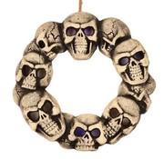 Wreath of skull with light 38 cm