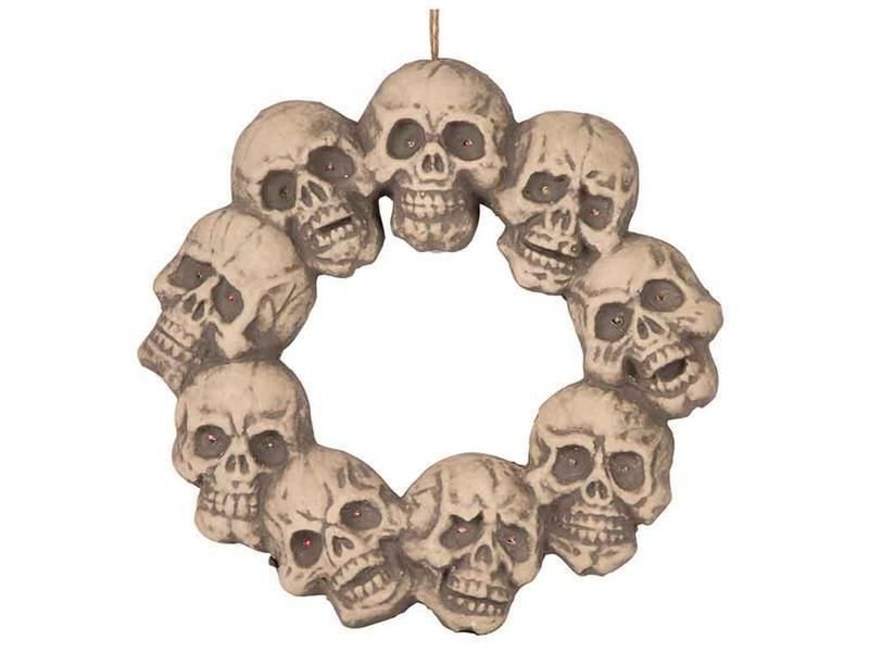 Wreath of skull with light 48 cm