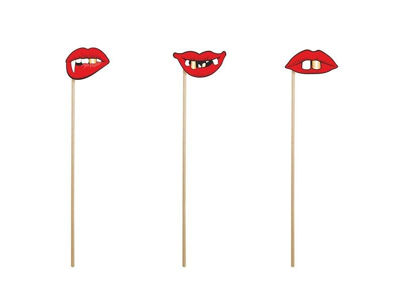 Breaklight Party Prop - Stok met speciale lippen ( 3 stuks )