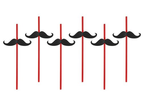 Breaklight Party Straw  - Paille Moustache( 6 pieces )