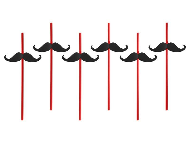 Breaklight Party Straw - Straw Moustache ( 6 pieces )