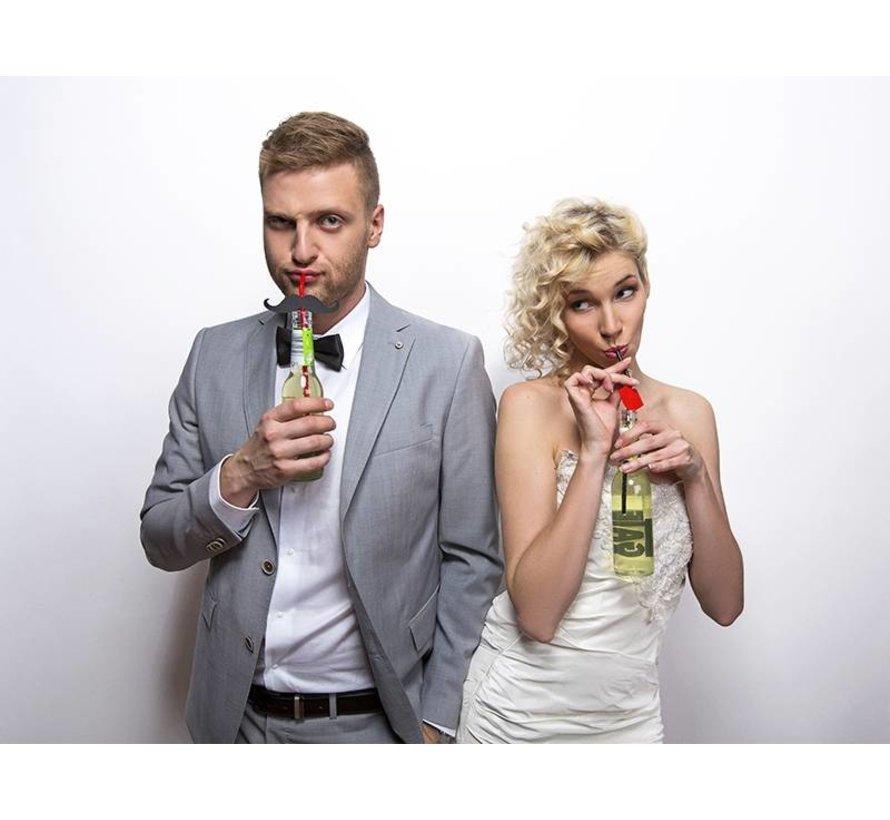 Party Straw - Straw Moustache ( 6 pieces )