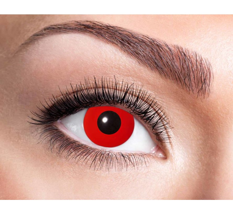 Color lenses Eyecatcher UV Flash Red