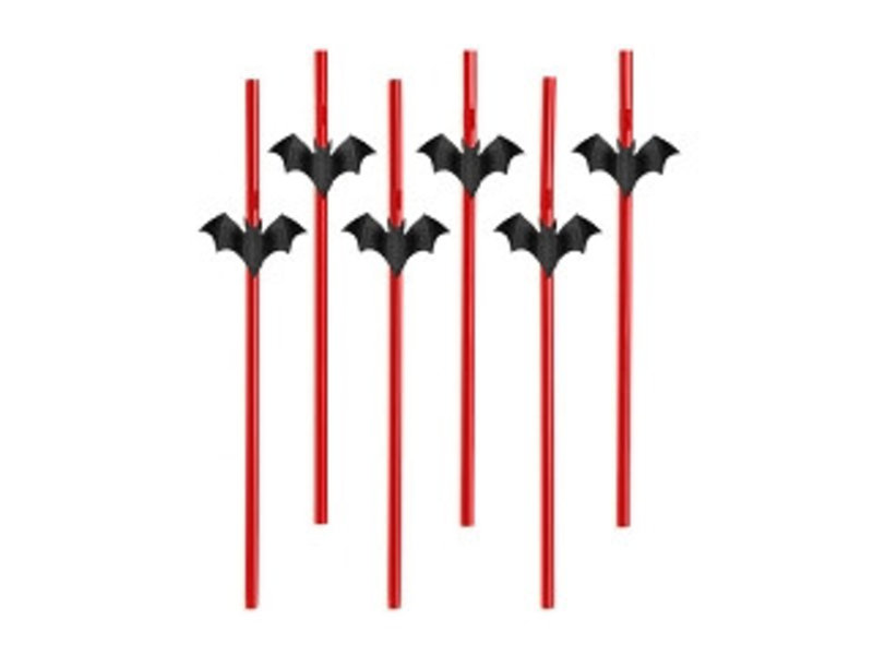 Breaklight Party Straw  - Paille Chauve Souris( 6 pieces )