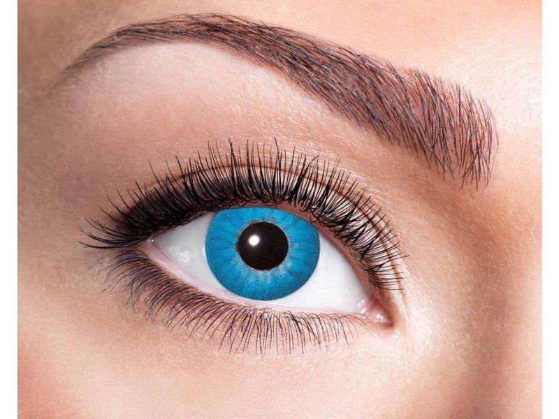 Electro Blue 3 month color lenses
