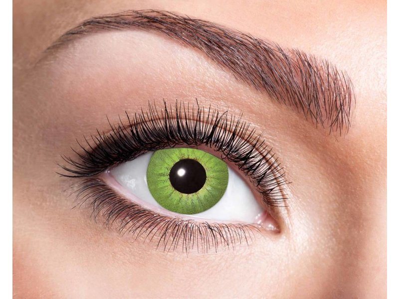 Electro Green 3 month color lenses