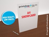 A4 Show Card with gloss varnish