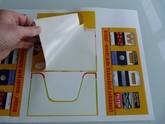 Stickervel voor onze A5 toonbank display doos