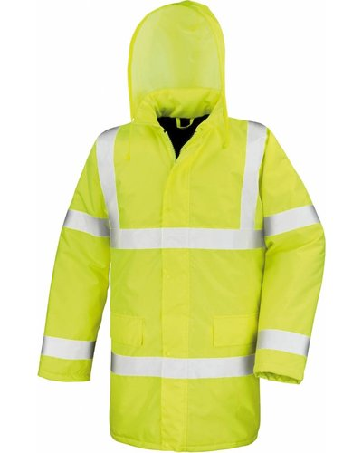 High-Vis Parka met striping en water- en wind dicht
