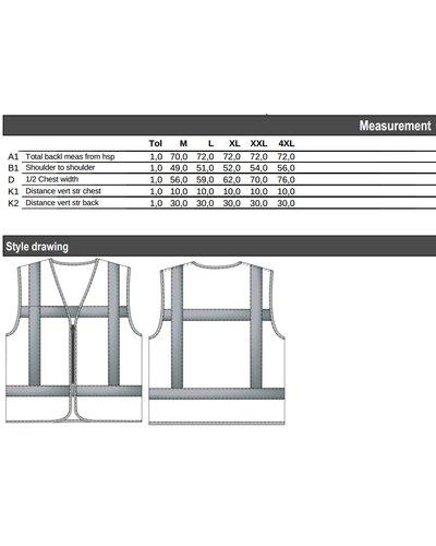 Tricorp Veiligheidsvest Vlamvertragend V-RWS-FR-ZIP