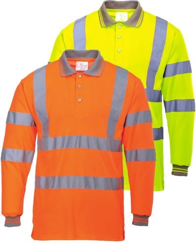Portwest S277 Poloshirt High Visibility met lange mouwen