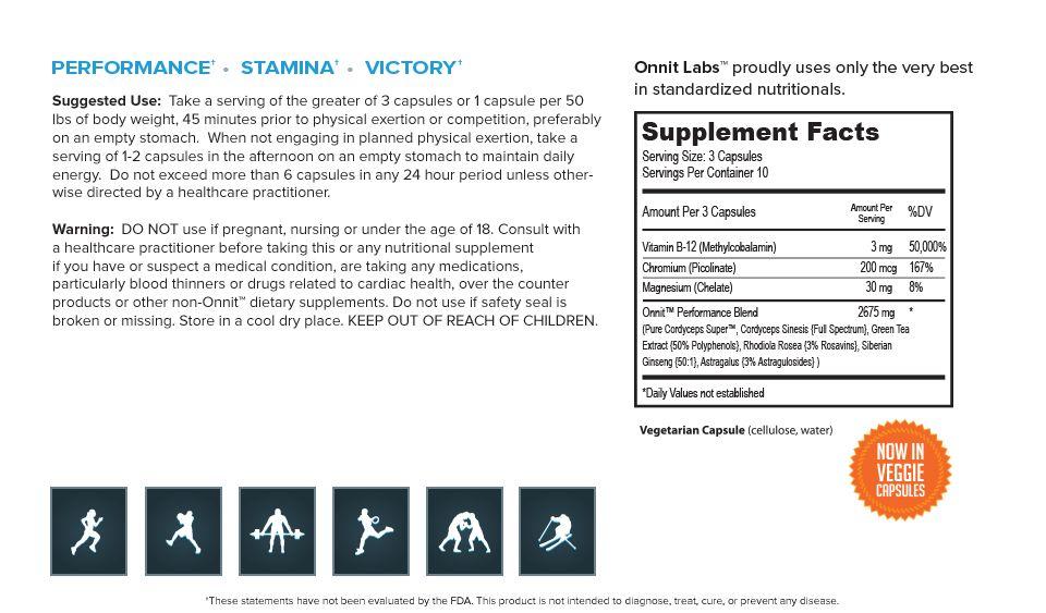 Onnit Shroom Tech Sport - 28 capsules