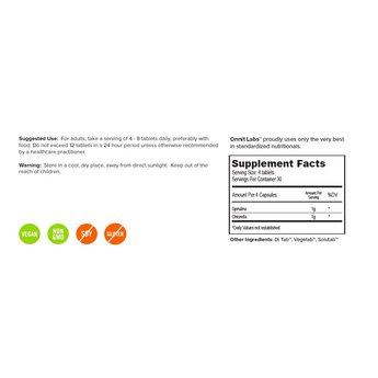 Onnit Spirulina und Chlorella - 80 Tabletten