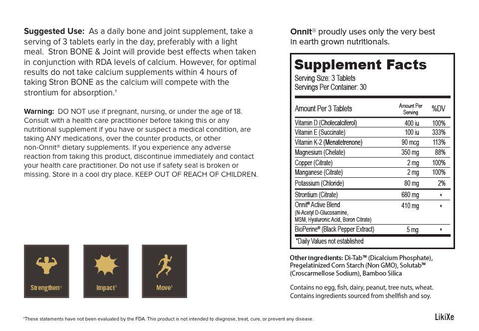 Onnit Stron BONE & Joint - 90 Tabletten