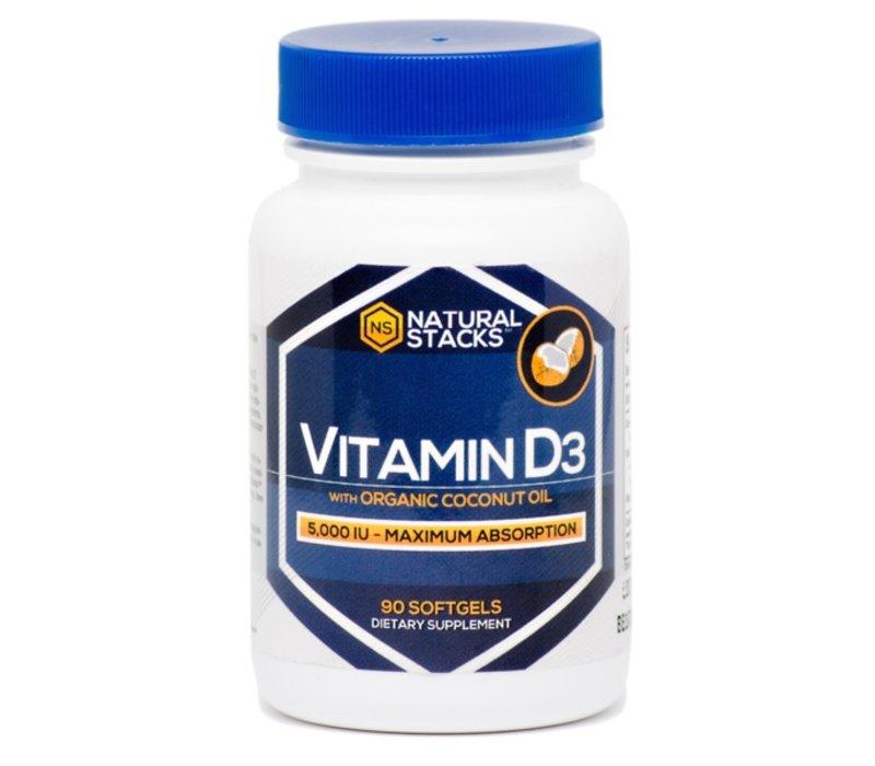 Vitamin D3 mit organisch Kokosnussöl