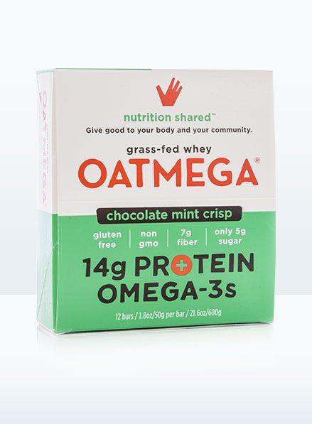 Oatmega Oatmega Chocolate Mint Crisp Protein Bar Box of 12