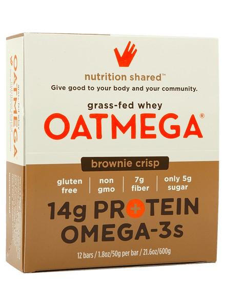 Oatmega Oatmega Brownie Crisp Protein Bar (box)