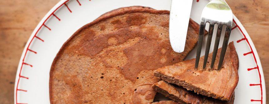 Chocolade proteïne pannenkoeken