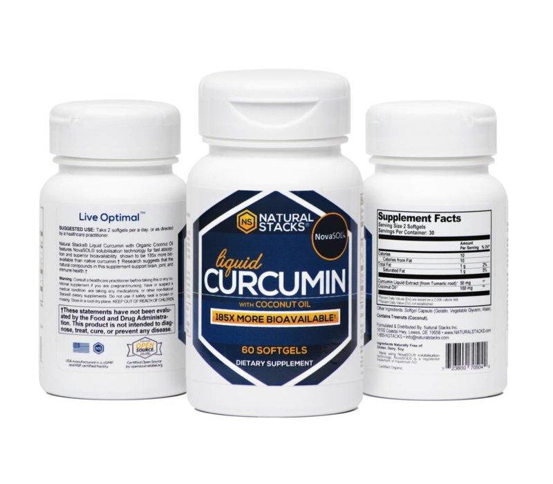 Natural Stacks Curcumine met biologische Kokosolie