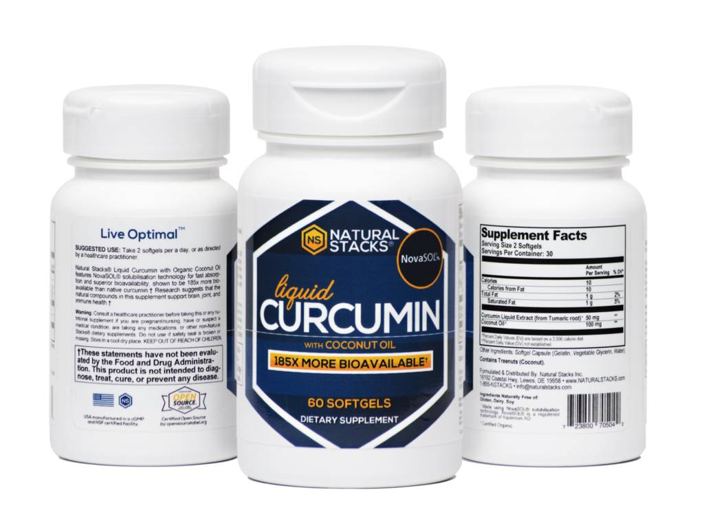 Natural Stacks Natural Stacks Curcumin with Organic Coconut Oil