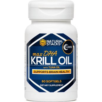 Natural Stacks Antarctic Krill Oil with 1.5 mg of Astaxanthin - 60 capsules
