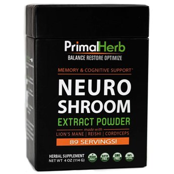 Primal Herb NEURO SHROOM - Supports Cognitive & Mental Performance
