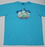 DAGIO 11701 Grote maten Blauw T-shirt