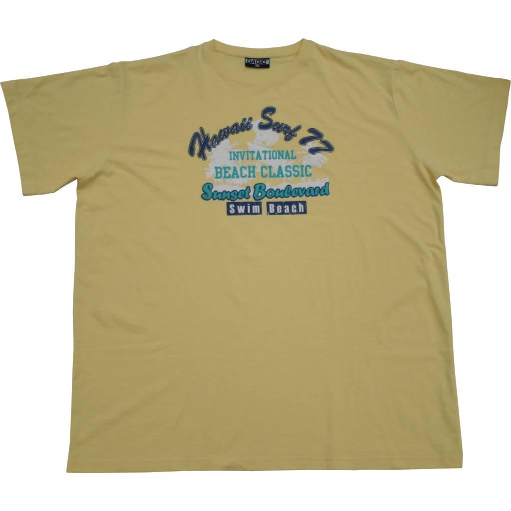 DAGIO 11702 T-shirt de grandes tailles Jaune