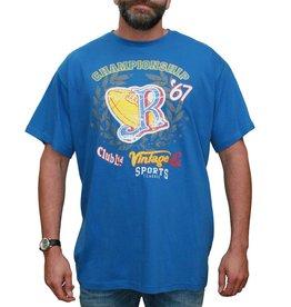 VANDAM 7715 blauwe grote maten T-shirt