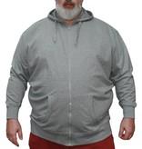 VANDAM 8803 Sweat Cardigan de grandes tailles Gris