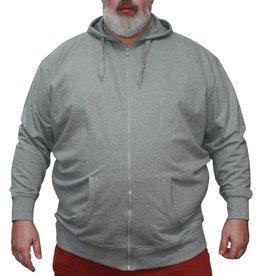 VANDAM 8803 Grote maten Grijze Sweat Cardigan