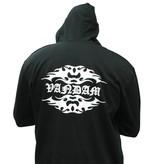 VANDAM 8810 Grote maten Zwarte Sweat Cardigan