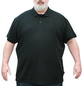 VANDAM 6601 Polo de grandes tailles Noir