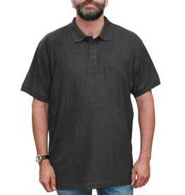 VANDAM 6602 Polo de grandes tailles Melange