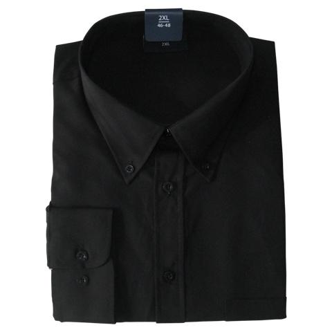 Kingsize Brand LS110 Grote maten Zwart Overhemd (lange mouw)