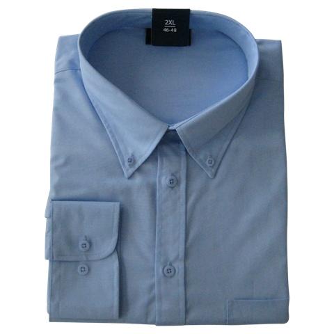 Kingsize Brand LS510 Chemise de grandes tailles Bleu Clair
