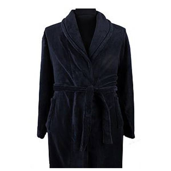 Kingsize Brand 068 grote maten blauwe badjas