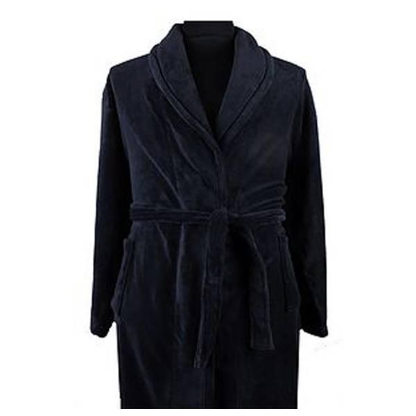 Kingsize Brand PJ068 Grote maten Blauwe Badjas