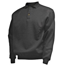 CAMUS 381101 Polo Sweater de grandes tailles Noir