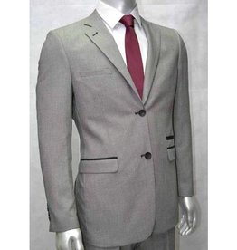 V&H Suits 200 Grande taille Costume Gris Clair