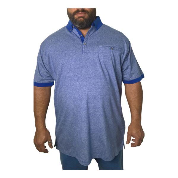 Kingsize Brand P996 blauwe grote maten polo