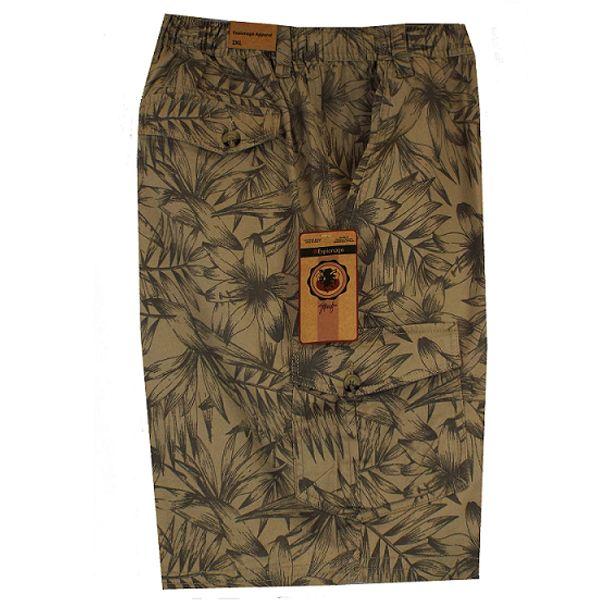 Kingsize Brand ST039 Grote maten Printed Khaki Bermuda